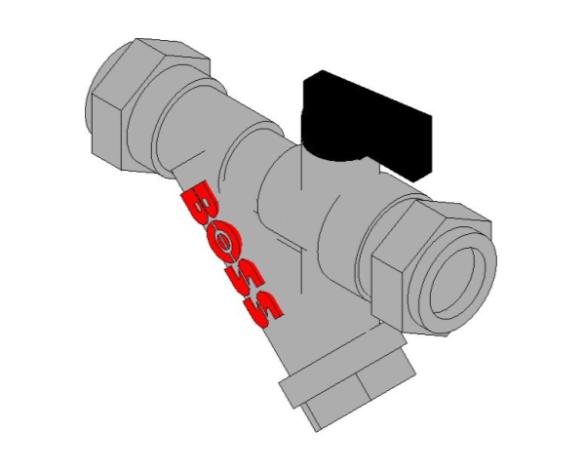 bimstore 3D image of BOSS Ball Valve - 282CF