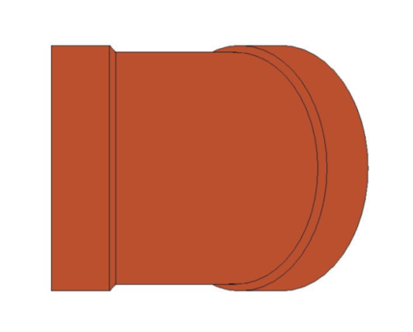 bimstore front image of BB21 45 Degree Elbow from Boss