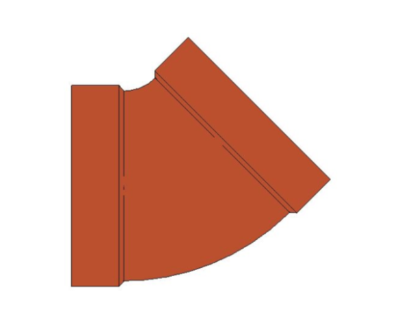 bimstore plan image of BB21 45 Degree Elbow from Boss