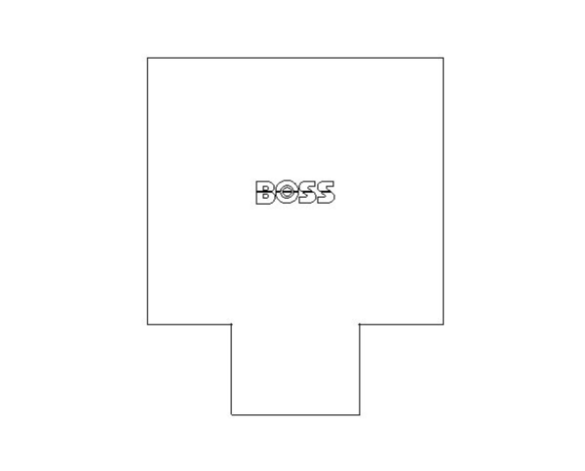 bimstore plan image of BB25 Branch Reduced Tee from Boss
