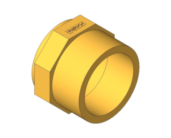 bimstore 3D image of BB3 Male Coupling from Boss