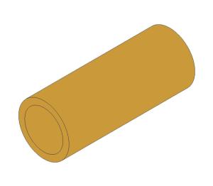 Product: Brass Screwed Pipe Barrel Nipple