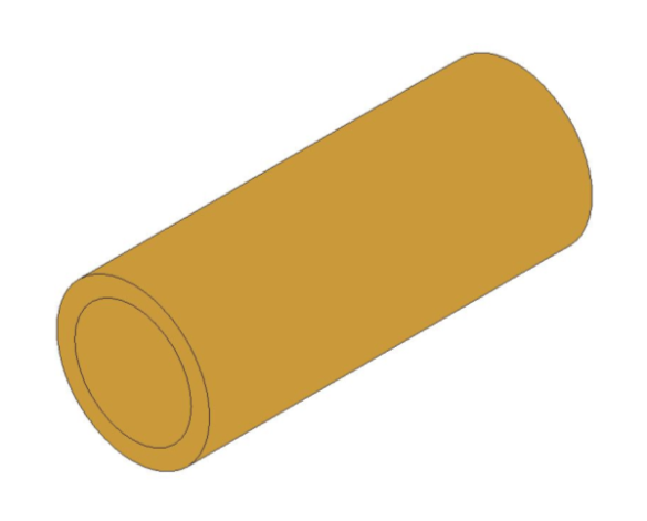 bimstore 3D image of the Brass Screwed Pipe Barrel Nipple from Boss
