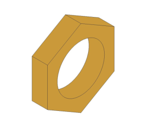 Product: Brass Screwed Pipe Hexagon Backnut