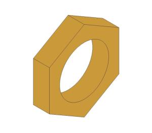 Product: Brass Screwed Pipe Hexagon Backnut