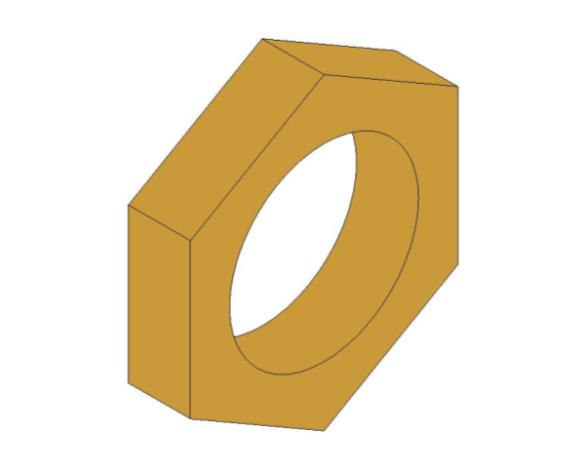 bimstore 3D image of the Brass Screwed Pipe Hexagon Backnut from Boss