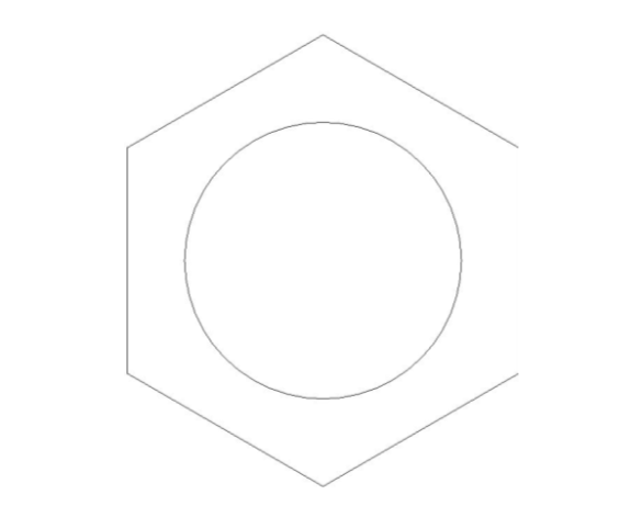 bimstore side image of the Brass Screwed Pipe Hexagon Backnut from Boss