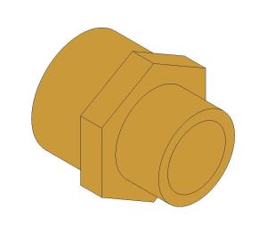 Product: Brass Screwed Pipe Hexagon Nipple Reducing
