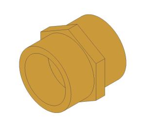 Product: Brass Screwed Pipe Hexagon Nipple