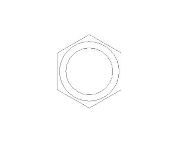 bimstore side image of the Brass Screwed Pipe Hexagon Nipple from Boss