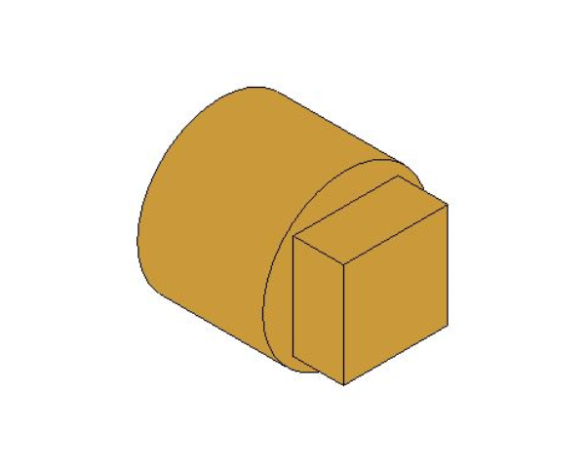 bimstore 3D image of the Brass Screwed Solid Square Head Plug from Boss