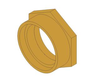 "Product: Bronze Screwed Pipe Reducing Bush 2.1/2""x2"""
