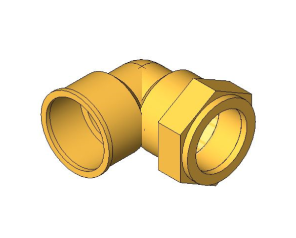 bimstore 3D image of the Compression Female Threaded Elbow from Boss