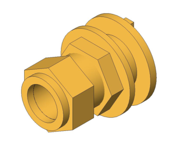 bimstore 3D image of the Compression Flanged Tank Connector from Boss