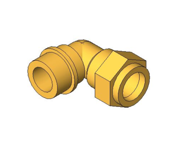 bimstore 3D image of the Compression Male Elbow from Boss