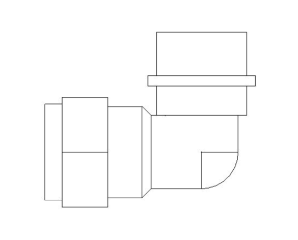 bimstore plan image of the Compression Male Elbow from Boss