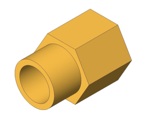 bimstore 3D image of the Compression Male Female Adapter Tap Ext from Boss