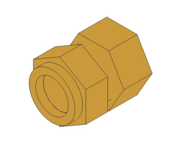 bimstore 3D image of the Compression Short Female Tap Adaptor from Boss