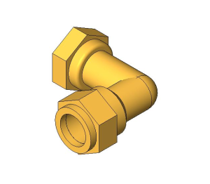 Product: Compression Swivel Female Bent Tap Connector