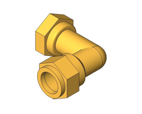bimstore 3D image of the Compression Swivel Female Bent Tap Connector from Boss