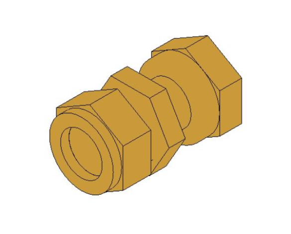 bimstore 3D image of the Compression Swivel Tap Connector from Boss