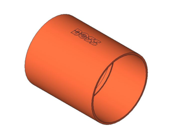 bimstore 3D image of the End Feed Fitting - Coupling from Boss
