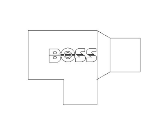 bimstore plan image of the End Feed Fitting - End Reduced Tee from Boss