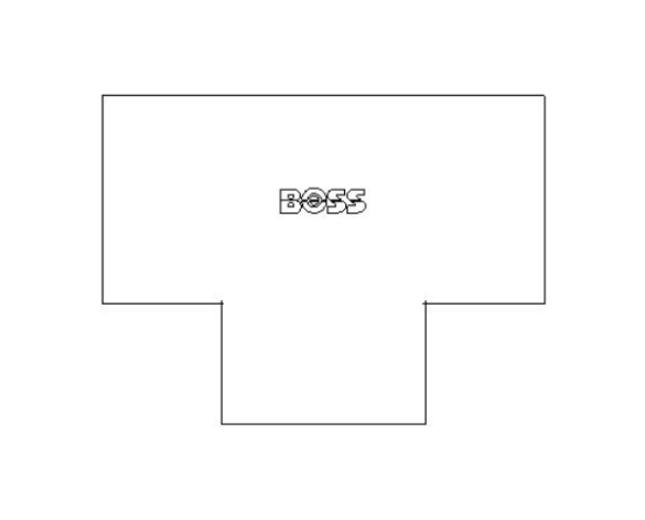 bimstore plan image of the End Feed Fitting - Equal Tee from Boss