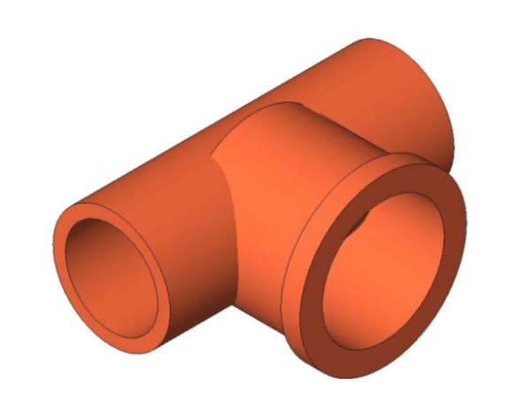 bimstore 3D image of the End Feed Fitting - Female Branch Tee from Boss