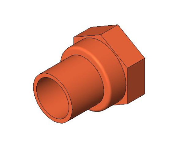 bimstore 3D image of the End Feed Fitting - Female Coupling from Boss