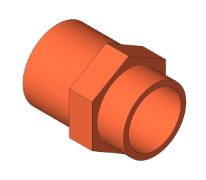 Product: End Feed Fitting - Male Coupling