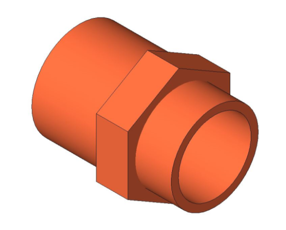 bimstore 3D image of the End Feed Fitting - Male Coupling from Boss