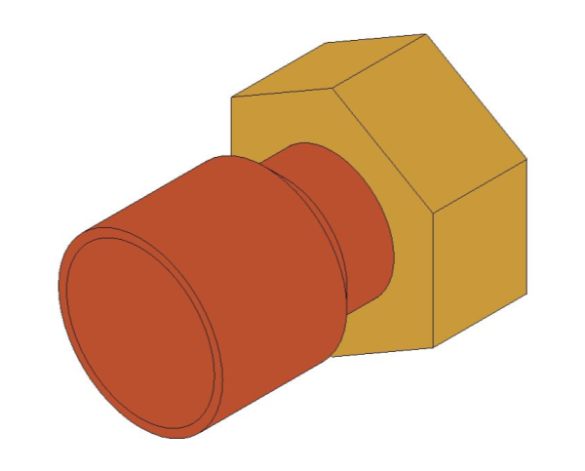 bimstore 3D image of the End Feed Fitting - Straight Tap Connector from Boss