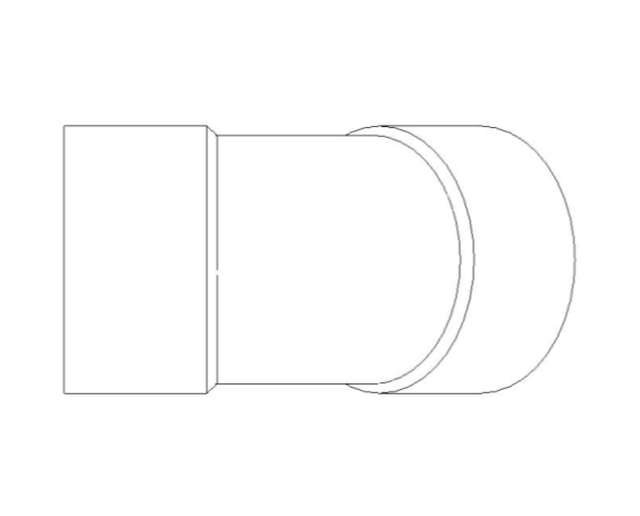 bimstore front image of the End Feed Fittings 45 Degree Elbow from Boss