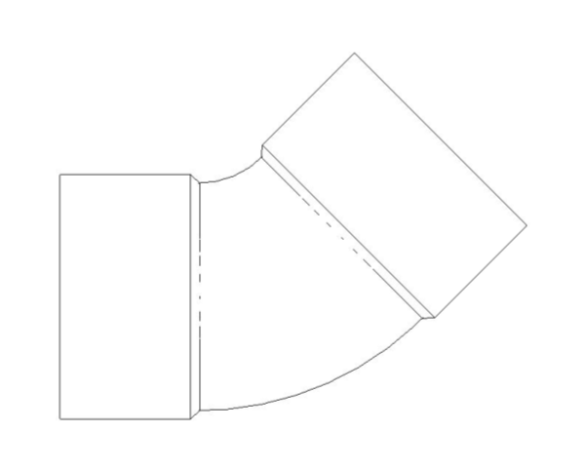 bimstore plan image of the End Feed Fittings 45 Degree Elbow from Boss