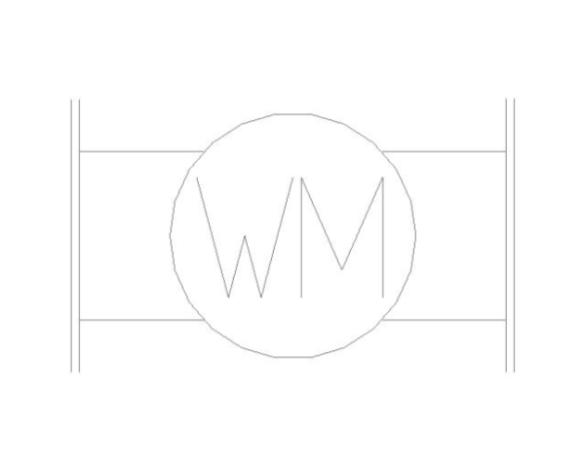 bimstore plan symbol image of BOSS Multi Jet Water Meter - 38