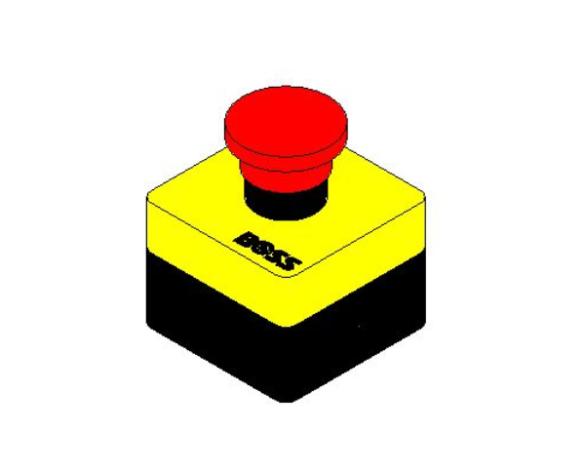 bimstore 3D image of BOSS Panic Button Switch - SCPB