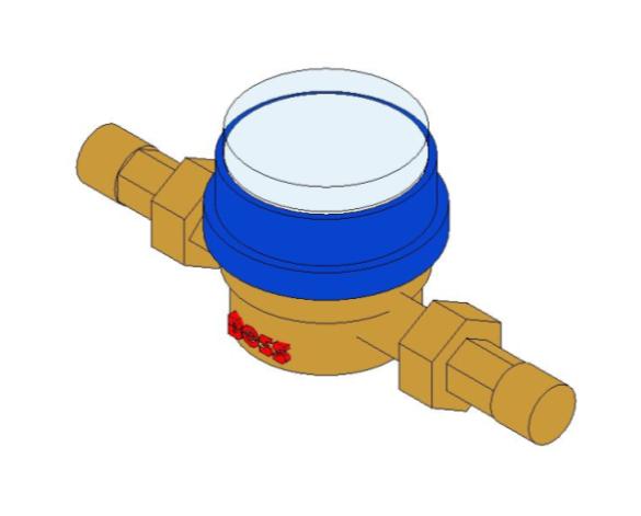 bimstore 3D image of BOSS Single Jet Water Meter - 38
