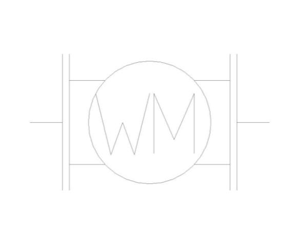 bimstore plan symbol image of BOSS Single Jet Water Meter - 38