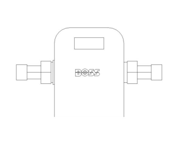 bimstore plan image of BOSS Ultra Sonic Heat Meter - 38USHW-A
