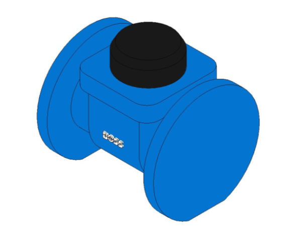 bimstore 3D image of the Woltmann Water Meter - 38CMWF from Boss