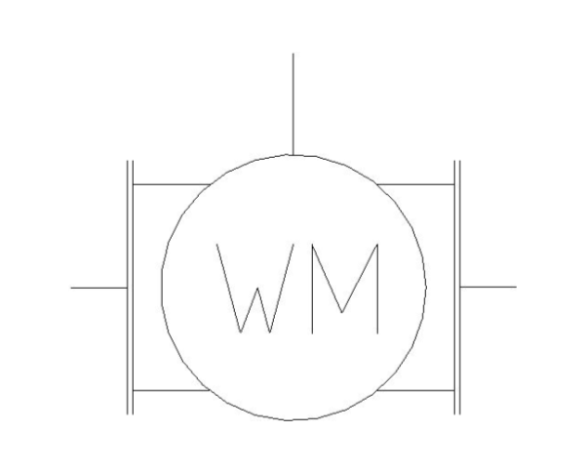 bimstore plan symbol image of the Woltmann Water Meter - 38CMWF from Boss
