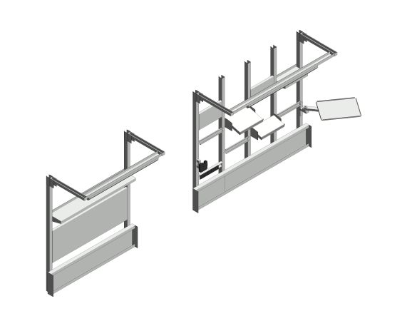 bimstore 3D all image of the Cubio Bench OH Kit 15-01 from Bott