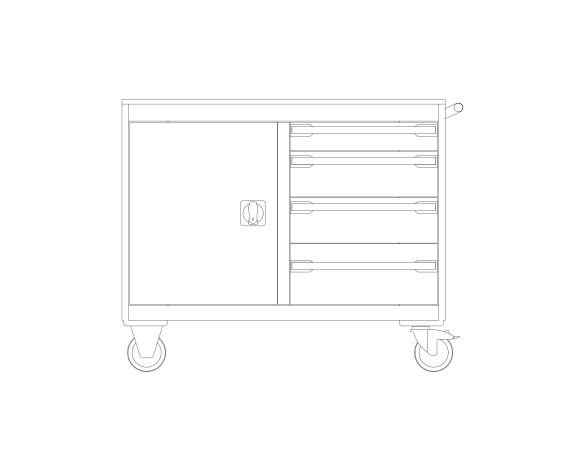 bimstore front image of the Cubio Mobile Cab 50-50 (Mpx) from Bott