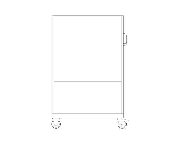 bimstore front image of the Perfo 6 Panel Trolley from Bott