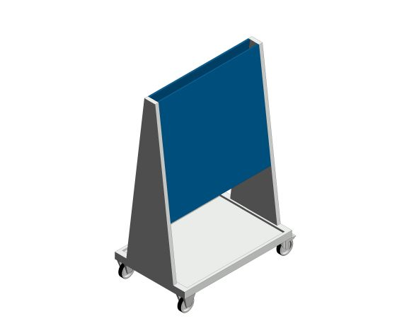 bimstore 3D image of the Perfo 6 Panel Trolley from Bott