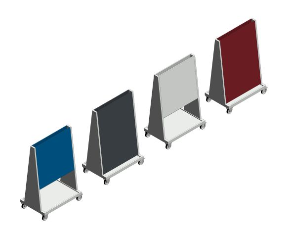 bimstore 3D all image of the Perfo 6 Panel Trolley from Bott