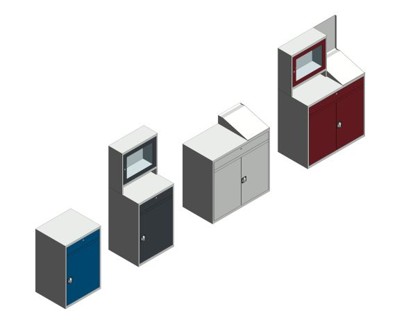 bimstore 3D all image of the Verso Computer Cupboard from Bott