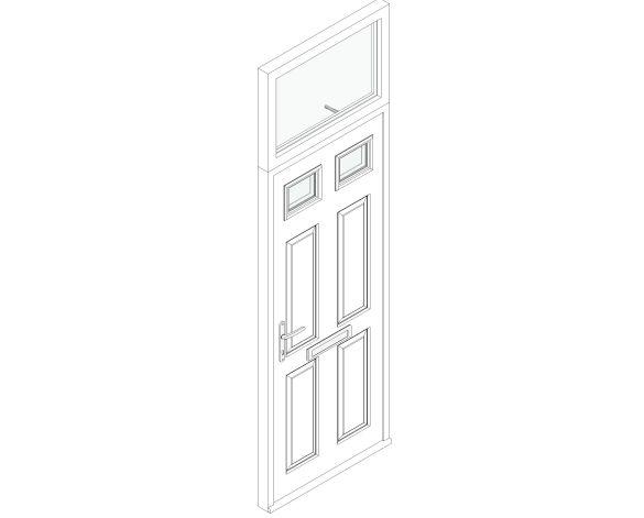 Fire Door - Alnwick with Fanlight