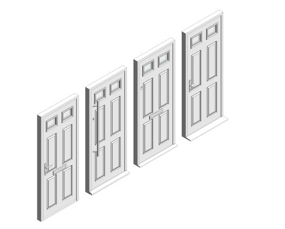 bimstore 3D all image of Bowater - Composite Door – Alnwick